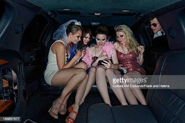 Bachelorette party in limousine