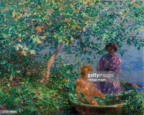 Baci di Sole, 1908. Found in the Collection of Galleria d'Arte Moderna Paolo e Adele Giannoni, Novara. Artist Nomellini, Plinio .