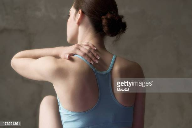 back ache massage - shoulder stock pictures, royalty-free photos & images