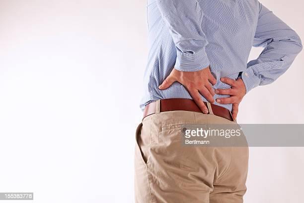 back ache - onderste deel stockfoto's en -beelden