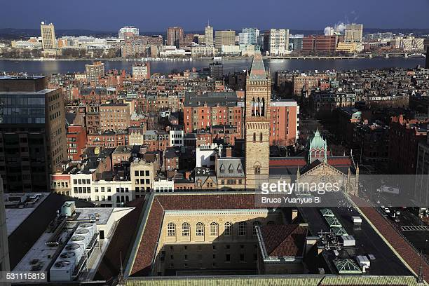 back bay with charles river in back - cambridge massachusetts stock pictures, royalty-free photos & images