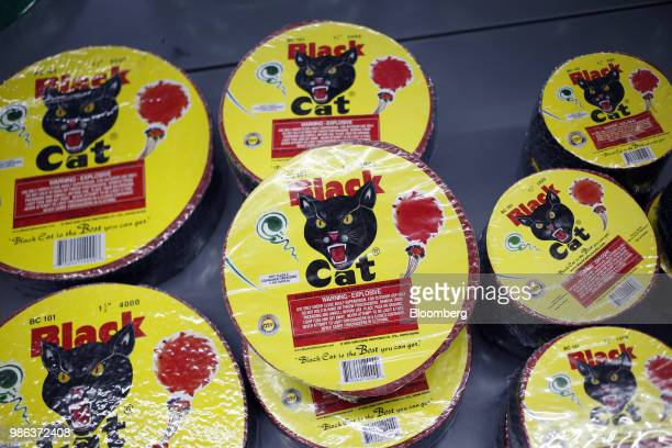 Back Cat brand fireworks are displayed for sale at a store in Muldraugh Kentucky US on Wednesday June 27 2018 According to the American Pyrotechnics...