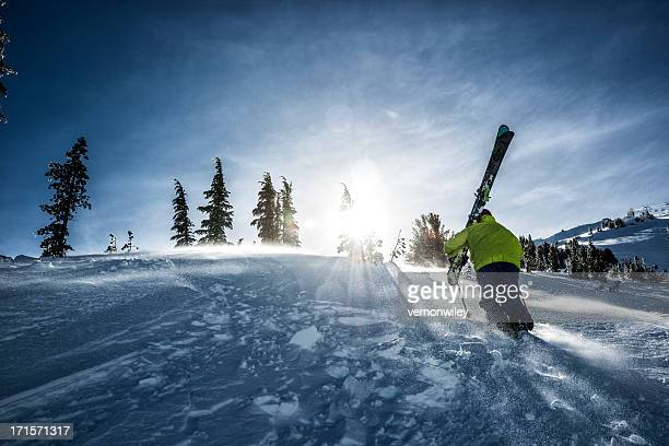 back country - telemark stock pictures, royalty-free photos & images