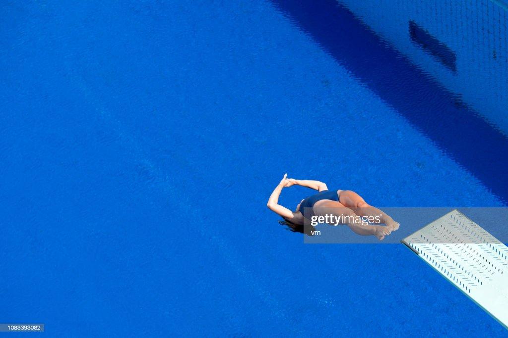 Back dive : Stock Photo