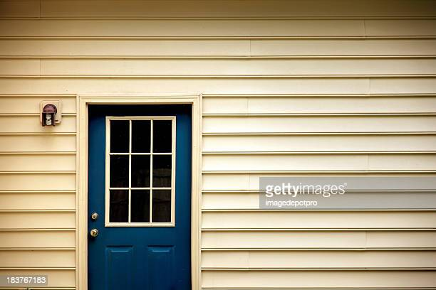 back door - wall building feature stock pictures, royalty-free photos & images