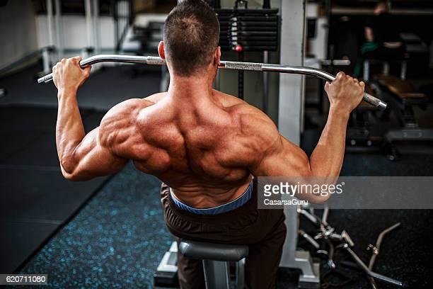 Back Excercise at Gym