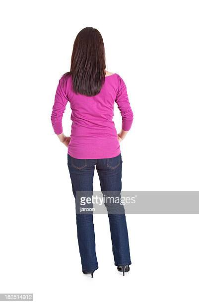back fo young woman - bare bum stock pictures, royalty-free photos & images