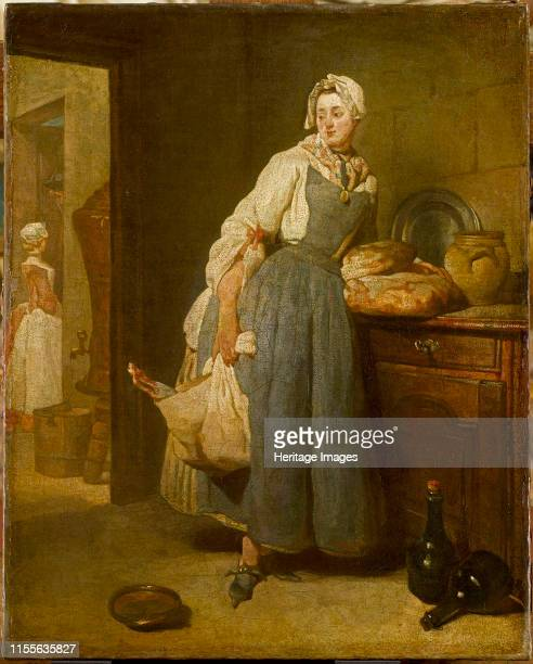 Back from the Market , 1739. Found in the Collection of Musée du Louvre, Paris. Artist Chardin, Jean-Baptiste Siméon .