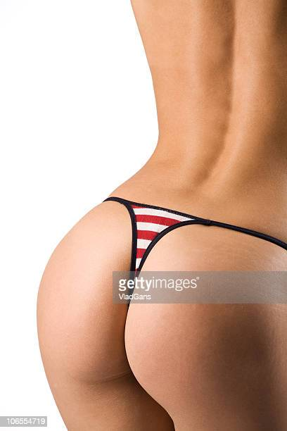 back in red bikini - big bums stock photos and pictures