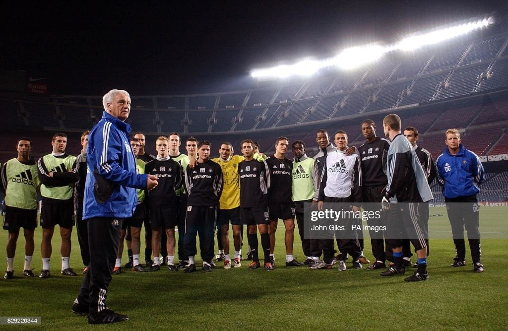 Newcastle united training in nou camp pictures getty images back in the nou camp stadium barcelona after a press conference newcastle united manager sir publicscrutiny Images