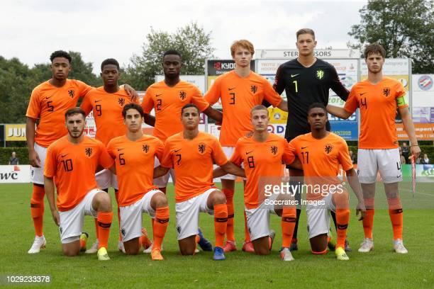 Back Juan Familia Castillo of Holland U19 Daishawn Redan of Holland U19 Lutsharel Geertruida of Holland U19 Sepp van den Berg of Holland U19 Kjell...