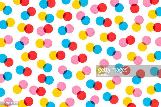 back lit paper spotted pattern half tone style - polka dot stock pictures, royalty-free photos & images