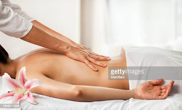 Back massage at the spa