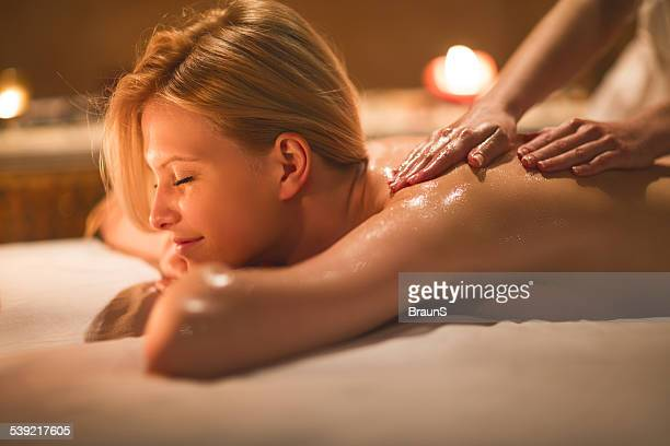 back massage. - massage stock photos and pictures