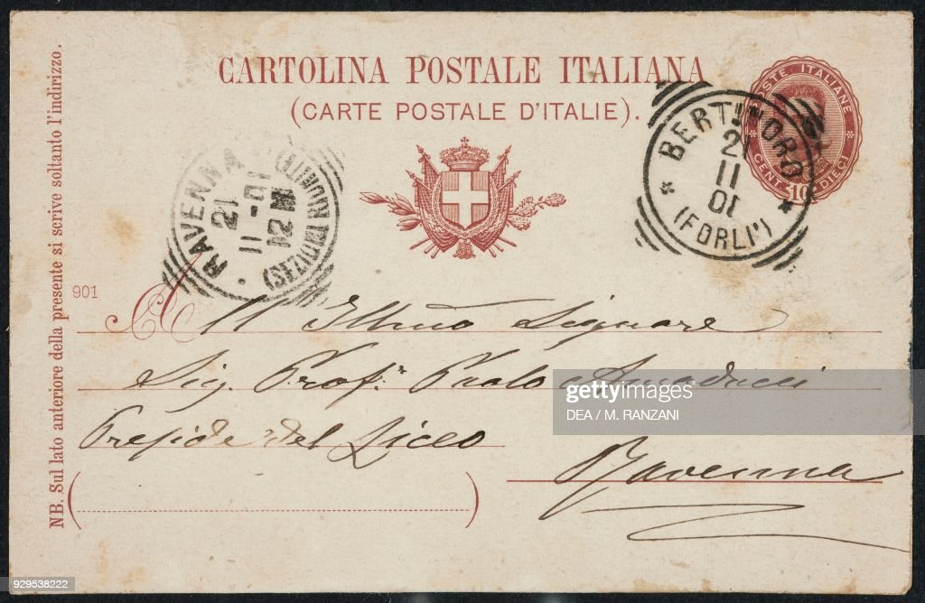 back of a postcard italy news photo getty images