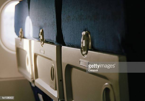 Back of airplane seats