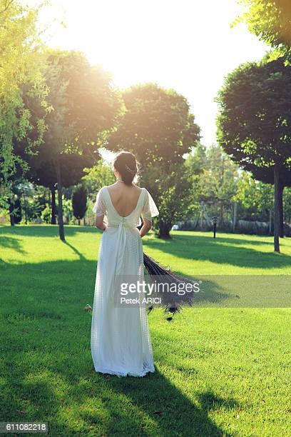 Rückseite der Braut