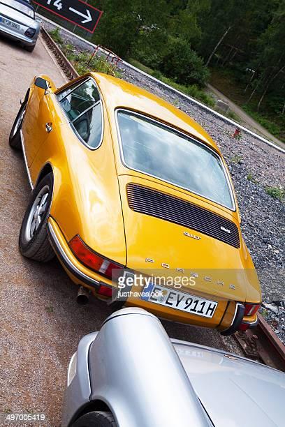 back of porsche 911t - porsche stock pictures, royalty-free photos & images