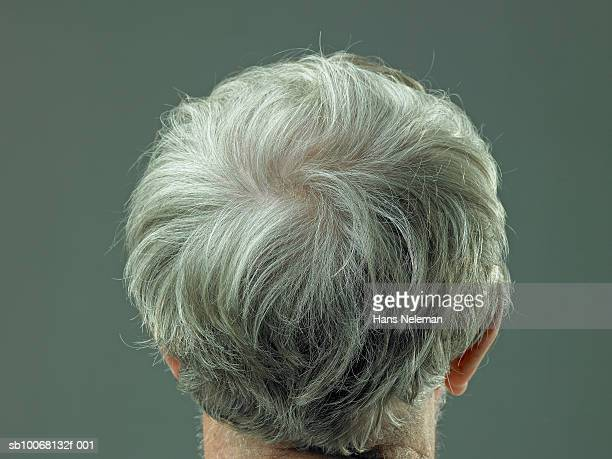 Back of senior man's head