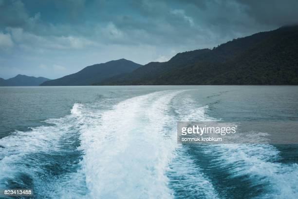 Back of speed boat
