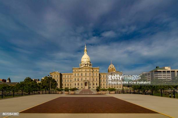 back of the capitol - lansing stock pictures, royalty-free photos & images