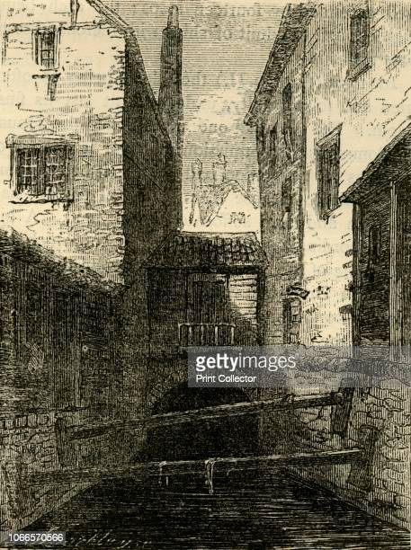 Back of the Red Lion from the Fleet' View of the Old Red Lion Tavern in Chick Lane and the Fleet Ditch West Smithfield London The River Fleet became...