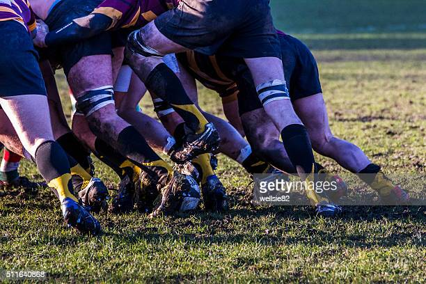 back of the scrum - rugby team stock pictures, royalty-free photos & images