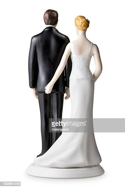 Back of wedding cake topper