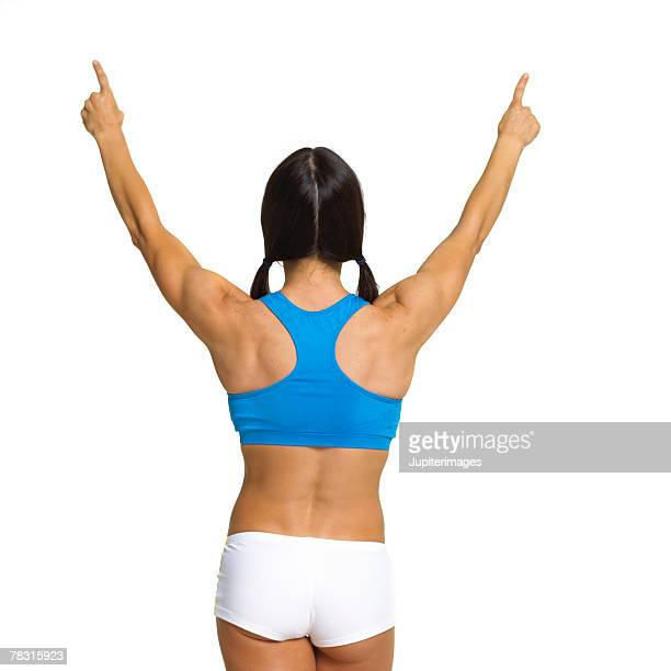 Back of Woman with Arms Raised