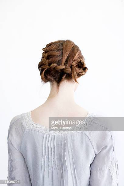 Back of Woman's Braided Red Hair
