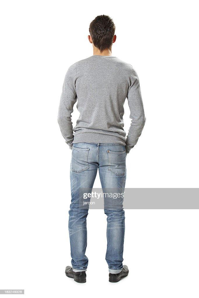 Rückseite des jungen gut aussehender Mann : Stock-Foto