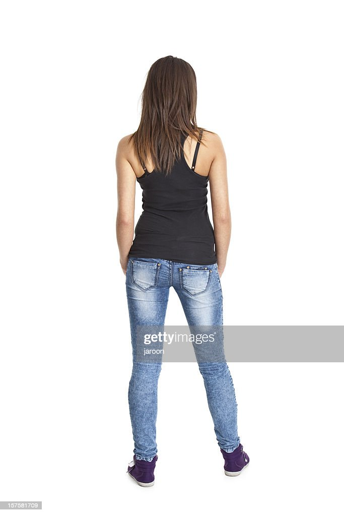 back of young woman : Stock Photo
