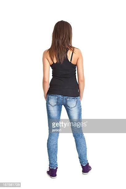 espalda de mujer joven - teen ass fotografías e imágenes de stock