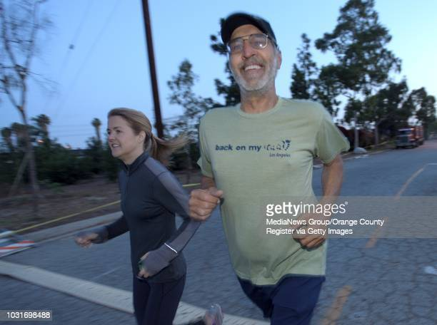 'Back on my Feet' runner Dan Anderson right with Ashley Roberts during a morning jog at the Villages at Cabrillo in Long Beach on Wednesday Back on...