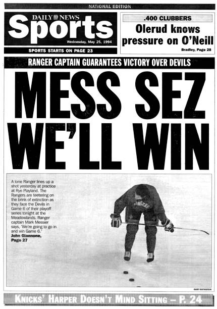 Back Page Sports of the Daily News from May 25, 1994, Headli