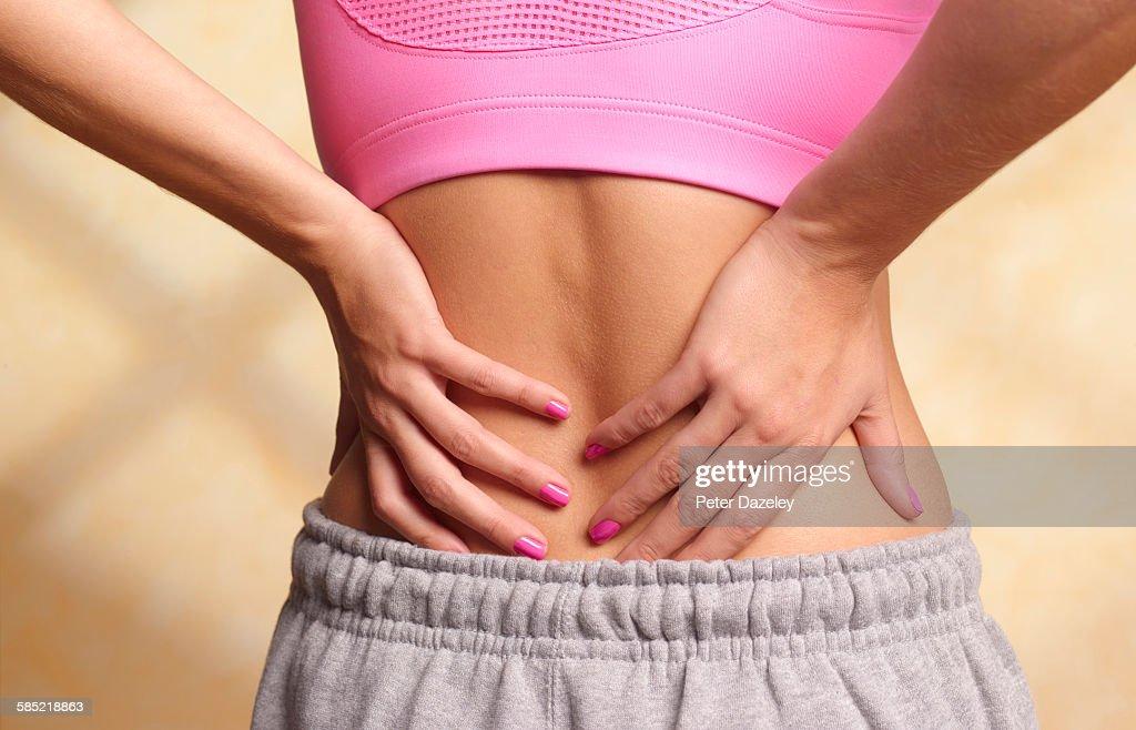 Back pain : Stock Photo