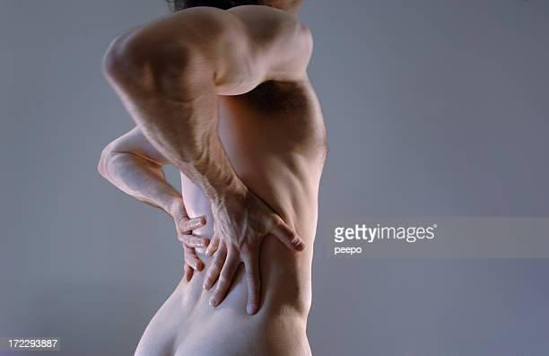 dolor de espalda serie - masaje hombre fotografías e imágenes de stock