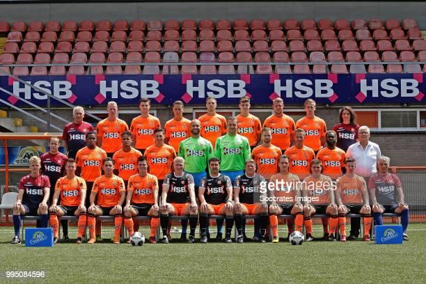 Back physio Andre Dooijeweerd of FC Volendam Daan Klinkenberg of FC Volendam Gerry Vlak of FC Volendam Joey Veerman of FC Volendam Teije ten Den of...