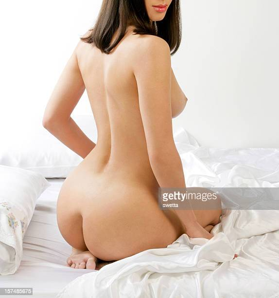 back - bare bottom women stock photos and pictures