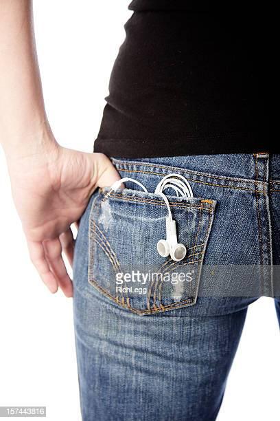 Back Pocket with Headphones