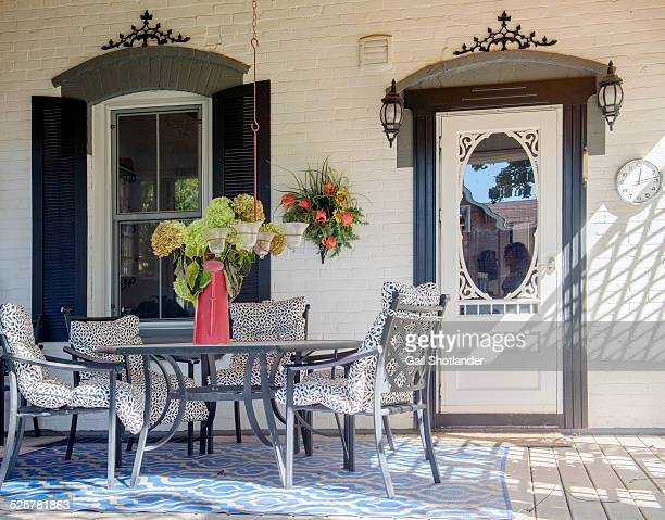 back porch - grace gail stock pictures, royalty-free photos & images