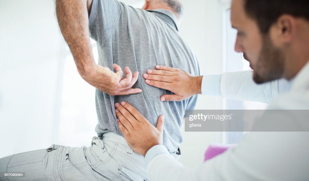 Back problems. : Stock Photo