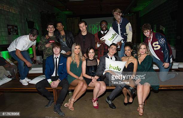 Back Row Actors Hayes Grier Melvin Gregg Leo Howard Chad L Coleman and front row actors Adam Hicks Meghan Rienks Mary Mouser Tyler Chase Liza Koshy...