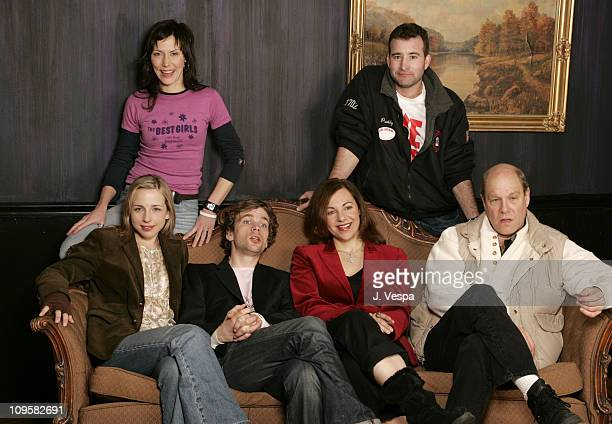 Andrea Maulella and David Paterson exectuive producer Front row Alicia Goranson Brendan Sexton III Adrienne Weiss director and Jay Paterson