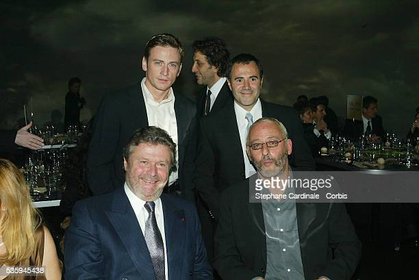 Benoit Magimel Jose Garcia AlainDominique Perrin and Jean Reno attend the Cartier Santos Night gala Celebrated jeweler Louis Cartier created the...