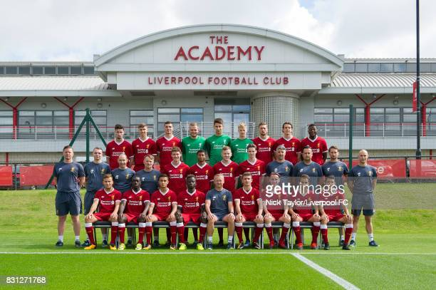Back Row Corey Whelan Conor Masterson Lloyd Jones Andrew Firth Kamil Grabara Caoimhin Kelleher Nathaniel Phillips Jordan Williams and Mich'el Parker...