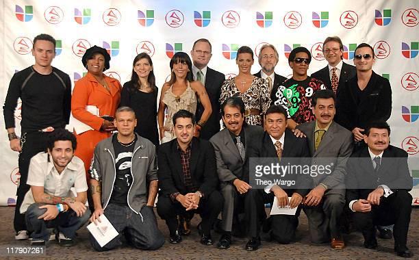 Fonseca, India, Andrea Arroyo, Alejandra Guzman, Marcos Witt, Barbara Bermudo, Neil Portnow, Recording Academy President, Tego Calderon, Gabriel...
