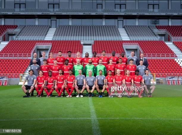 Back row : Frederic Leidgens team manager, Nicolas Berckmans kit man, Alexis De Sart, Dino Arslanagic, Junior Pius, Simen Juklerod, Dieumerci...