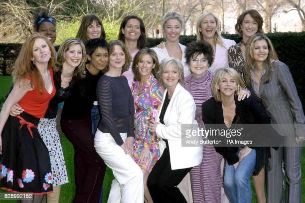 Back row from left to right presenter Floella Benjamin model Stacey Young actress Amanda Stretton socialite Tamara Beckwith presenter Tania Bryer and...