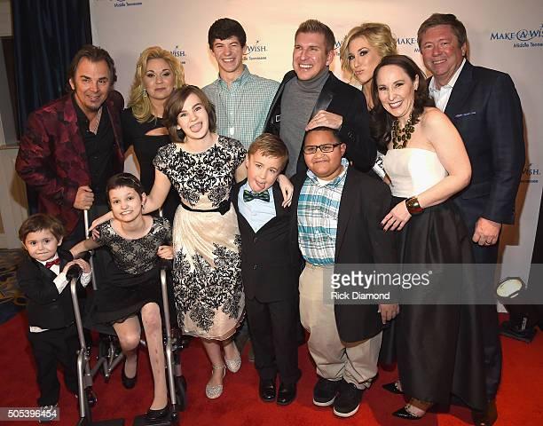 Back row Jonathan Cain Reality TV star Julie Chrisley Wish Kid Levi Reality TV star/Host Todd Chrisley Reality TV star/Miss Tennessee USA Savannah...